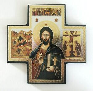 Icon Cross Wall Hanging The Teaching Christ