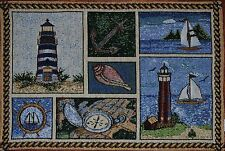 Tapestry Placemat~Sailboat~Lighthouse~Anchor~Seashell~Beach~Nautical~Ocean~NEW