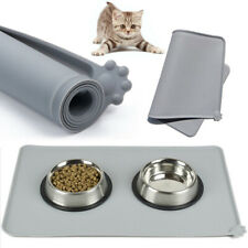 Pet Puppy Soft Silicone Feeding Food Water Mat Dog Cat Non Slip Bowl Placemat