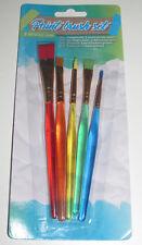 Lot x5 Pinceaux de Couleurs Travaux de Peinture Paint Brus Set
