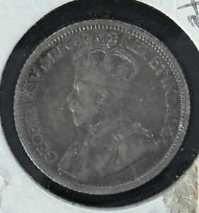 Canada 1915 Dime - Circulated - Estmated Grade F-VF - Cleaned 3