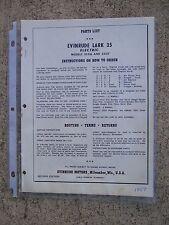 1959 Evinrude Lark 35 HP Electric 35516 35517 Motor Parts List MORE IN STORE U