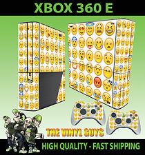 XBOX 360 E EMOJI FACES ICONS MOODS SMILEYS STICKER SKIN SUPERSLIM  & 2 PAD SKIN