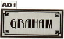 Art Deco Personalised Name Plate Door Number House plaque