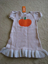 NWT NEW Gymboree Halloween Pumpkin Sweater Dress short sleeves 5T 5 yrs old girl
