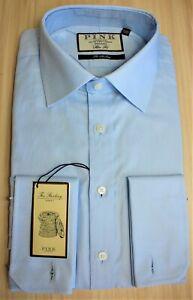 Thomas Pink ~ 16.5 ~ BNWT blue The Sterling Royal Oxford cotton, slim fit shirt