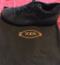 NEW TOD'S MENS GREY SUEDE CASSETTA SNEAKERS Us13 1/2 Uk12 1/2