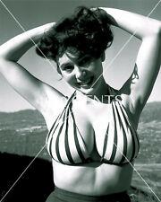1950s NUDE 8X10 PHOTO OF BUSTY BIG NIPPLES MEG MYLES FROM ORIGINAL NEG-MM20