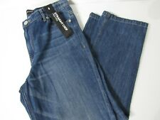 EXPRESS JEANS Womens Blue Denim Straight High-Rise Cropped Jeans, size 8 new