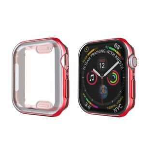 For Apple Watch SE 6 5 4 3 38 40 42 44mm iWatch Screen Protector FULL Case Cover
