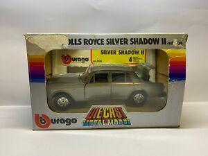 Burago 0134 - Rolls Royce Silver Shadow II - Diecast Model - 1/24 Scale