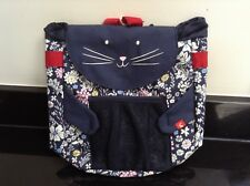 JOULES CAT RUCKSACK BACKPACK BUDDY BAG WITH BOTTLE HOLDER. NEW WITH TAG