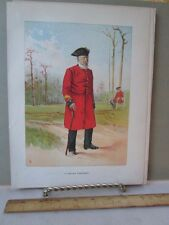 Vintage Print, CHELSEA PENSIONER,Soldier,Her Majestys Army