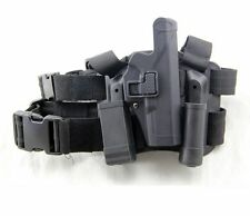 Tactical Drop Leg Thigh Right-hand Holster With 2 Pouches for Glock 17 19 22 32