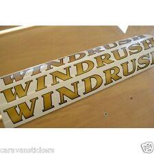 COTSWOLD Windrush - (FLAT VINYL) - Caravan Name Sticker Decal Graphic - SET OF 3
