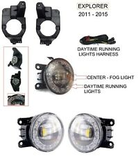 CLEAR BRIGHT LED REPLACEMENT FOG LIGHT KIT FOR FITS 2011 12 13 14 15 EXPLORER