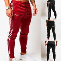 Men Sports Gym Pants Slim Fit Running Joggers Casual Long Trousers Sweatpants US