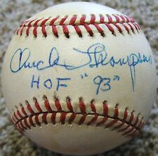 RARE Chuck Thompson D.05 PSA/DNA Signed Baseball Baltimore Orioles Sportscaster