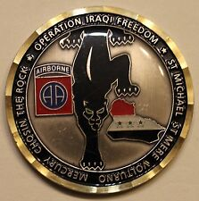 82nd Airborne 313th Military Intelligence/Intel BN Fallujah Army Challenge Coin