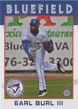2016 Bluefield Blue Jays Earl Burl III RC Rookie Toronto