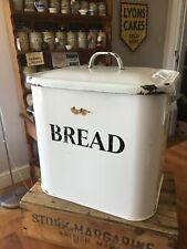 Vintage Traditional White Enamel Bread Bin – Kitchenalia – Great! –