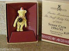 ❤ STEIFF Pewter Miniature Teddy Clown of 1926 Steiff Club 1994/95 NEW with Box ❤