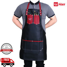 Pro Salon Leather Black Cutting Barber Hair Cutting Gown Cape Hairdresser Apron