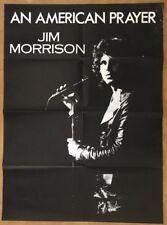Jim Morrison of The Doors Original Vintage Poster Pin-up An American Prayer 70's