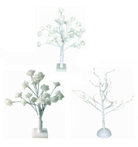 VINTAGE LED WARM WHITE LED BULBS ROSE TREE TABLE LAMP LIGHT HOME
