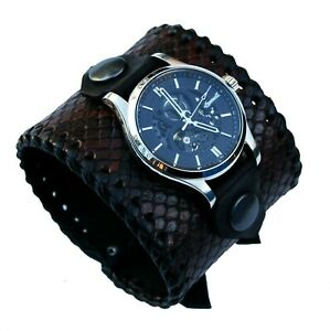 Python Snakeskin Watch Wrist band Bracelet Ingersoll The Armstrong Automatic