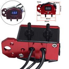 Aluminium Digital Motorrad Lenker Schalter Spannungsanzeige USB Ladegerät 12V 1x