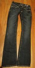 Buckle ** Miss Me **  Jeans Boot Cut Cross Embellished Bling JP5046 sz 27 EUC