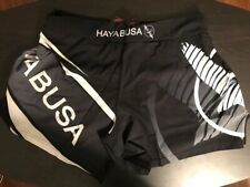 Hayabusa Kickboxing MMA Shorts - Black/White Medium (32) - Free Shipping