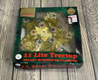Woolworth 11 Lite Treetop Gold Star Steady Burning Or Flashing Tree Topper Decor