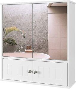 Spiegelschrank Hängeschrank Badschrank Wandspiegel Schminkschrank MDF Holz