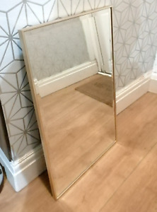 Rare designer wall mirror with bevelled edge Ref 2472