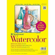 Watercolor Paper Artist Paint Acid Free Cold Press 140LB 24 Sheets 9 X 12 In NEW