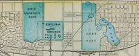 """Vintage 1900 ST PAUL MINNESOTA Map 14""""x11"""" ~ Old Antique Original COMO PARK ZOO"""
