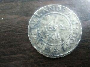 1652 XII NEW ENGLAND NEWENGLAND EXONUMIA TOKEN CIRCULATED