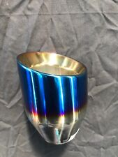 STAINLESS STEEL,TITANIUM LOOK,BURNISHED END EXHAUST TIP.