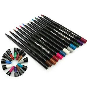 Eye Shadow Eyeliner Lip Liner Pencil Cosmetic Makeup Waterproof Kohl Crayon New