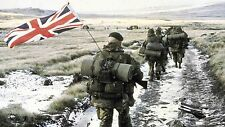Falklands War Canvas Wall Art Poster Print Paint British Flag Soldiers Battle