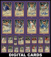 Topps BUNT INDEPENDENCE DAY 2020 [25 CARD BLUE SIGNATURE SET] Glavine/Buehler+++