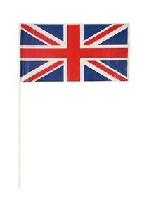 10 x Union Jack Hand Waving GB Small Flag British England Street Party Flags UK