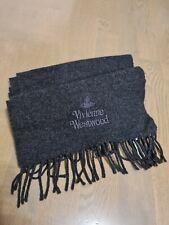 Vivienne Westwood Dark Gray Wool Scarf