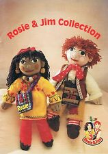 Knitting Patterns Rosie and Jim Dolls Toys Sweaters Hat Scarf etc COPY Patt Only