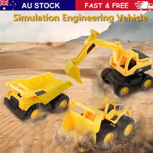 Engineering Construction Truck Excavator Digger Vehicle Toy Kids Xmas Gift AU~