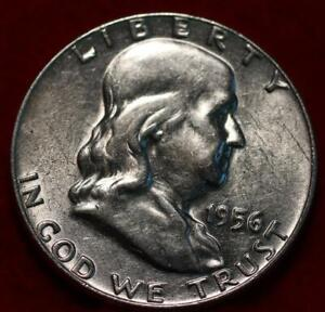 Uncirculated 1956 Philadelphia Mint Silver Franklin Half