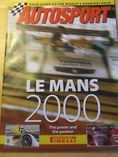 AUTOSPORT MAGAZINE SUPPLEMENT 2000 LE MANS GUIDE TO THE WORLD'S GREATEST RACE