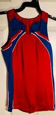 GK Elite COMPETITION SHIRT BOYS LARGE RED ROYAL GYMNASTICS BOY-CUT Sz CL NWT!